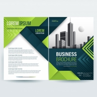 business-brochure-template-with-green-geometric-shapes_1407-376 Matbaa Baskı İmalat