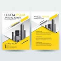 business-brochure-template-with-yellow-geometric-shapes_1407-276 Matbaa Baskı İmalat