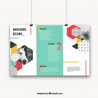 geometric-brochure-with-colorful-style_23-2147700827 Matbaa Baskı İmalat