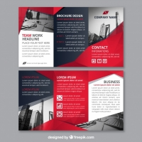 red-abstract-shapes-corporate-triptych-template_23-2147656397 Matbaa Baskı İmalat
