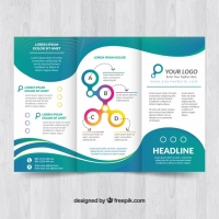 elegant-brochure-template-with-waves_23-2147699374 Matbaa Baskı İmalat