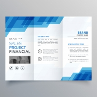 blue-geometric-trifold-business-brochure-design-template_1017-11266 Matbaa Baskı İmalat